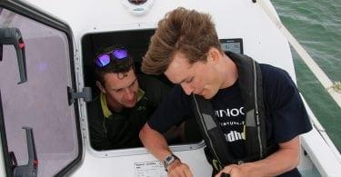 Atlantic Rowing team onboard 3
