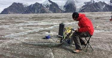 Algiz rugged tablet on glacier