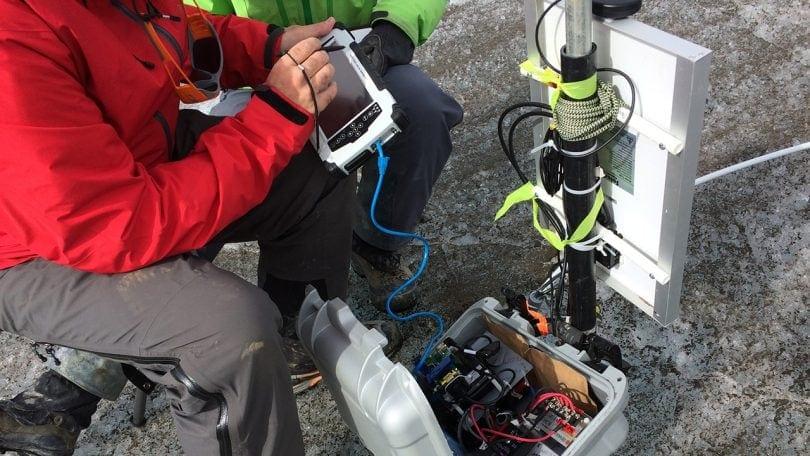 Algiz 7 tablet used by glacier researchers