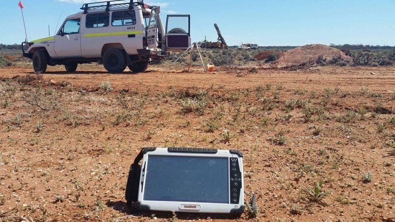 Rugged Tablets for Drill Hole Surveyors