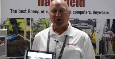 jim at handheld booth