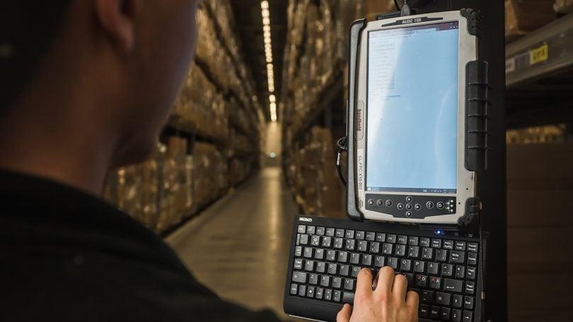 Algiz 10X in big warehouse