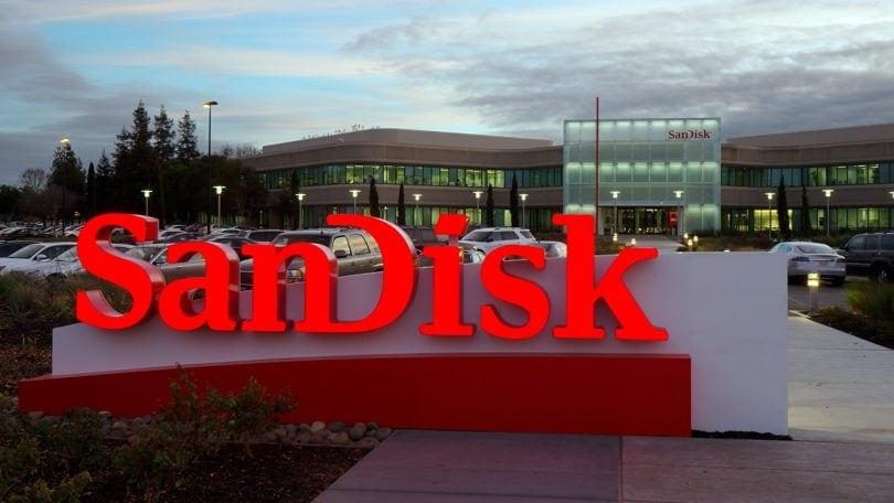 SanDisk sign outside office