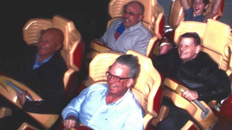 Crew on the rollercoaster