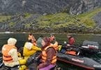 Explorers surveying Patagonia