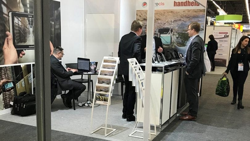 Handheld booth at SITL