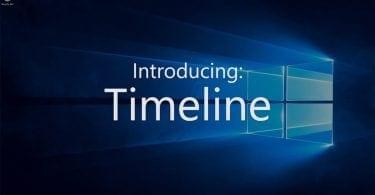 Windows 10 April Update - Timeline