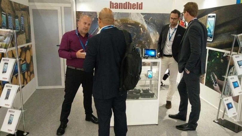 Eurosatory people in Handheld booth
