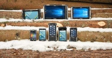 Handheld rugged computers in snow