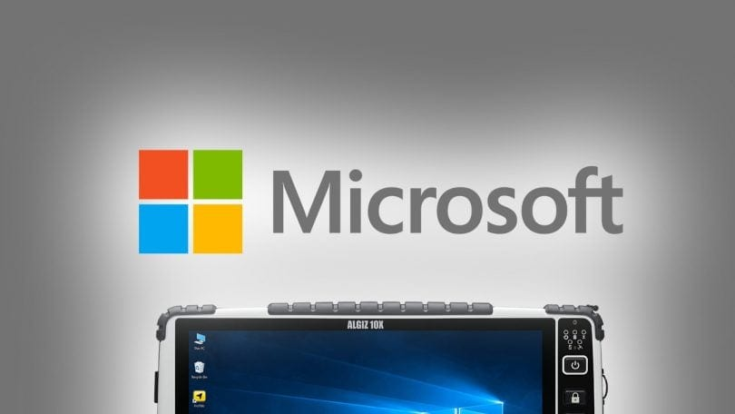 Windows 10 April Update Rugged tablet