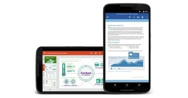 Office suite on Android device