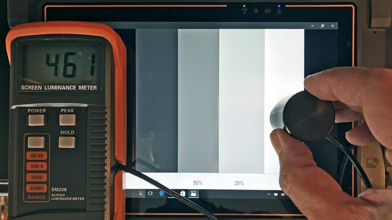 screen luminance meter 2