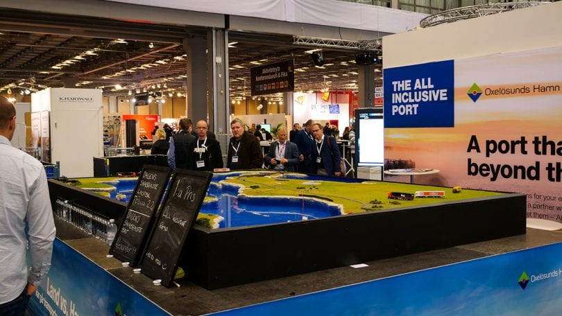 The exhibition hall at Logistik & Transport
