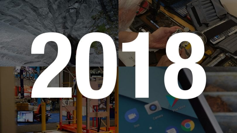 A collage of articles from 2018
