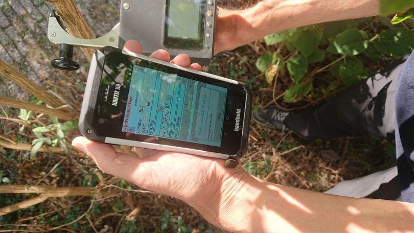 rugged pda collecting data tree nursery