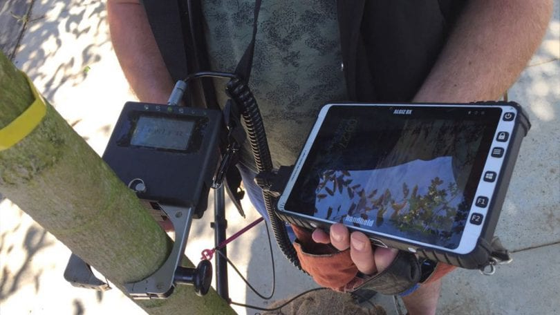 rugged tablet data collection tree nursery