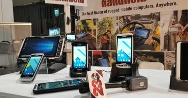 handheld booth at world ag expo
