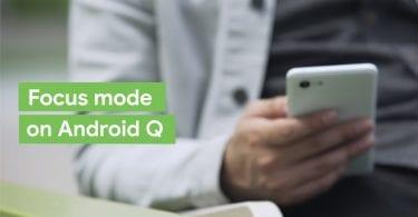 focus mode in android q