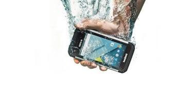 handheld nautiz x9 dropped in water