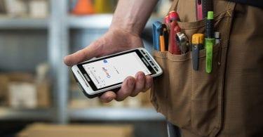 handheld nautiz x2 using google chrome