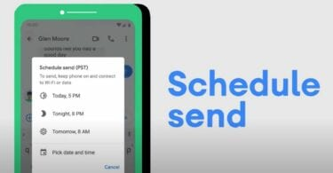 Android´s schedule send