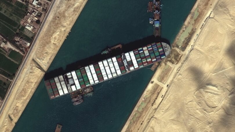 Ever Given causing the suez canal blockage