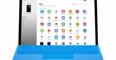Your phone app lets you use android apps on a windows device